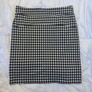 Michael Kors Knit Houndstooth Mini Skirt